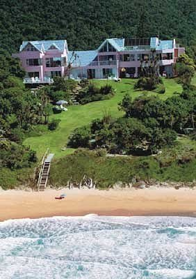 Accommodation Bed And Breakfast Wilderness South Africa The Pink Lodge On The Beach
